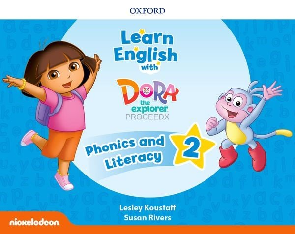 画像1: Learn English With Dora The Explorer Level2 Phonics & Literacy Book (1)