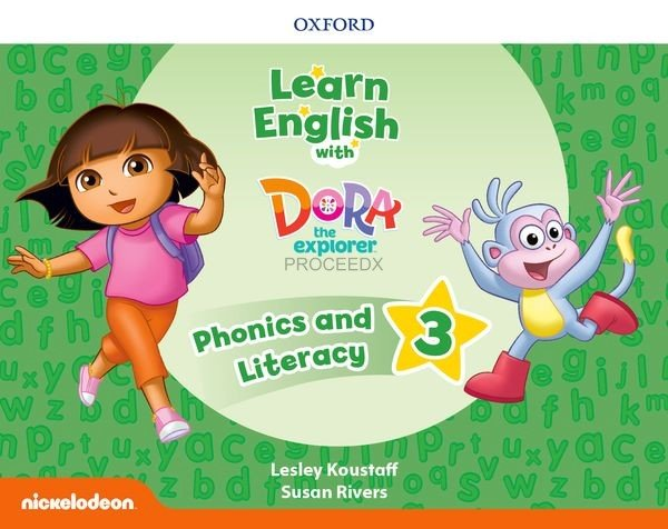 画像1: Learn English With Dora The Explorer Level3 Phonics & Literacy Book (1)