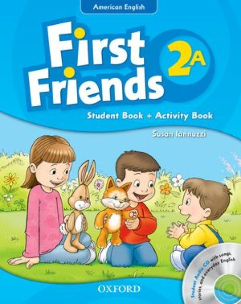 画像1: First Friends: American EditionLevel 2Student Book/Workbook A with Audio CD Pack-9780194433488 (1)