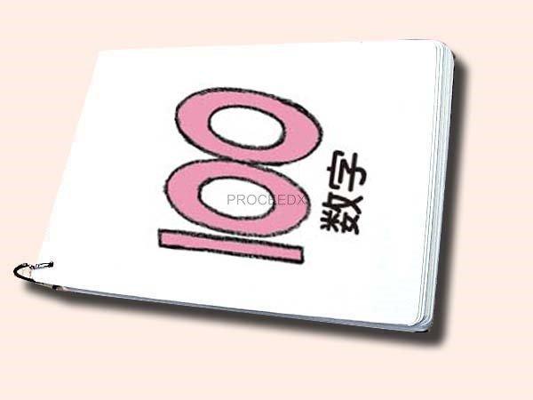 画像1: A4サイズ英語絵カード  数字 (1)