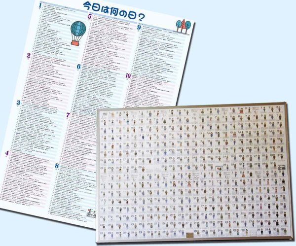 画像1: 学習ポスターお試しセットB偉人カレンダー、今日は何の日? (1)