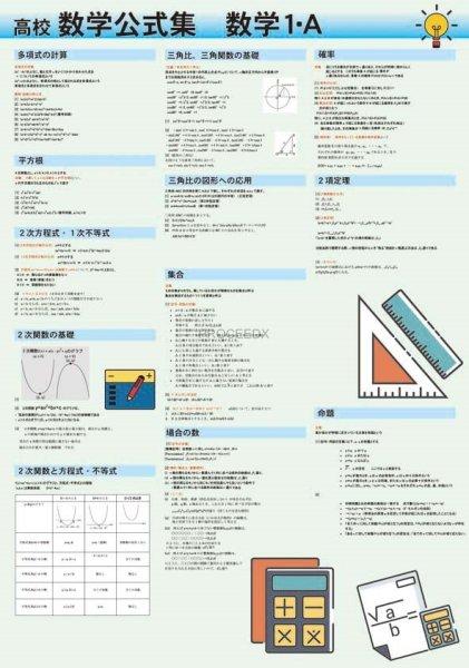 画像1: 高校数学公式集 数学1・A (1)