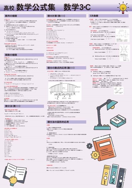 画像1: 高校数学公式集 数学3・C (1)