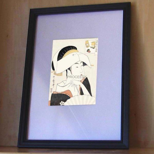 画像1: 喜多川歌麿 16点フルセット(A4額付き) (1)